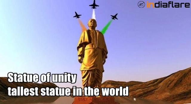 स्टेचू ऑफ़ यूनिटी के बारे में जानकारी, दुनिया का सबसे ऊँचा स्मारक