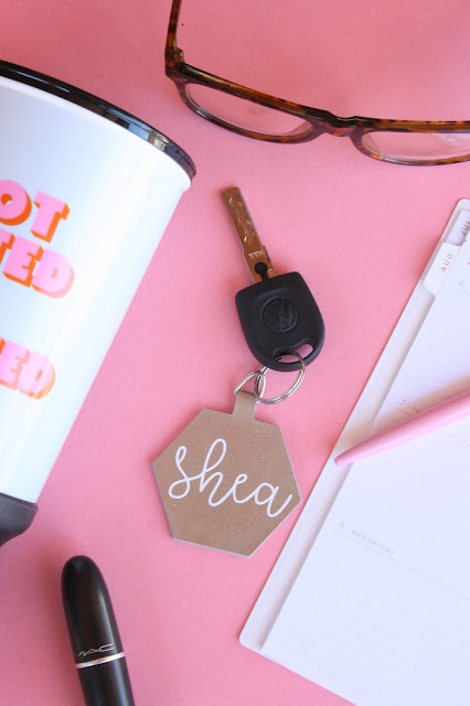 Create your own custom DIY Leather Keychains with Cricut!