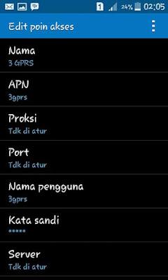 Pengaturan APN Android