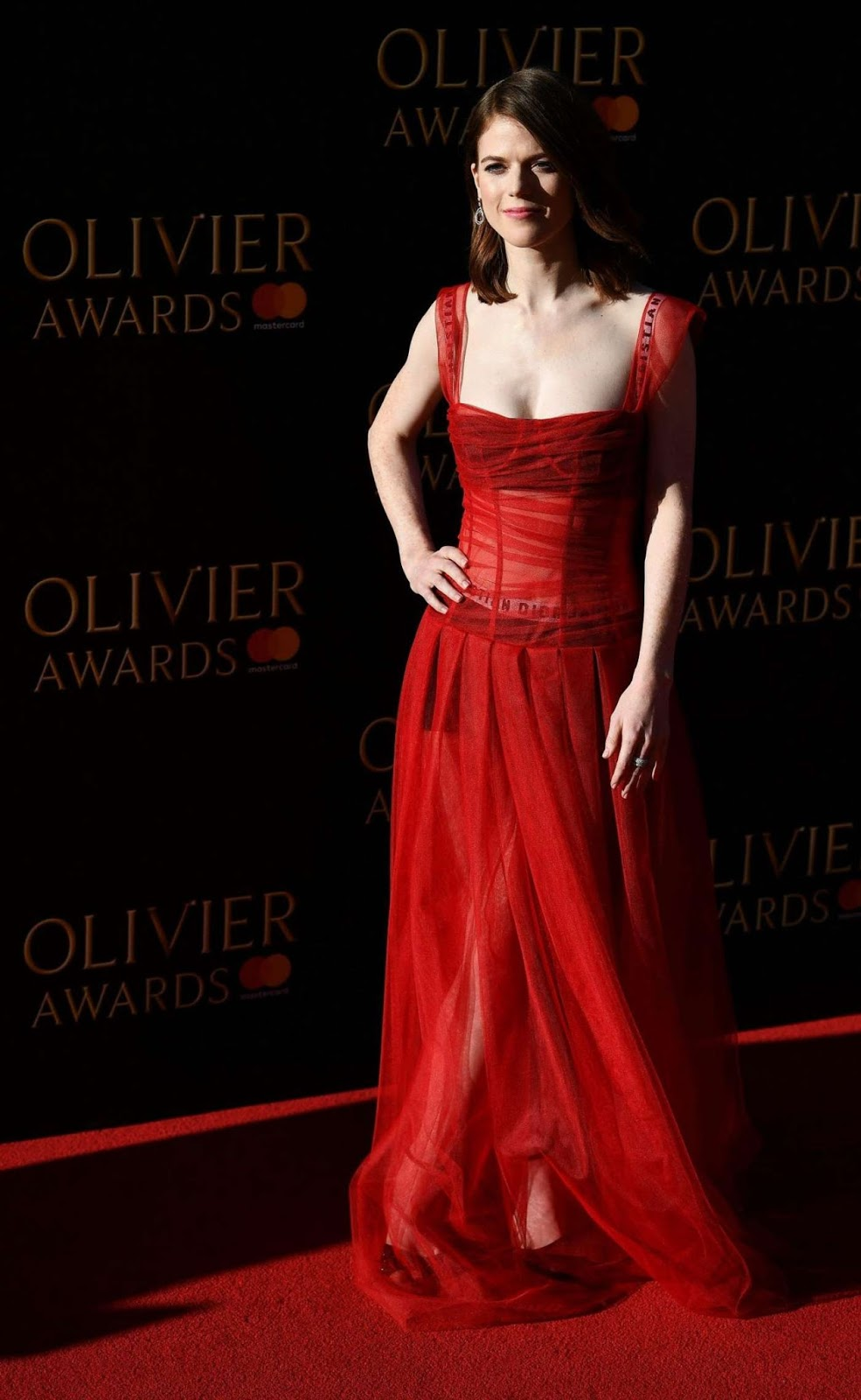 Rose Leslie – 2017 Olivier Awards in London