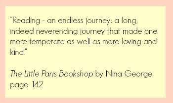 Reading Is An Endless Journey Quote from The Little Paris Bookshop