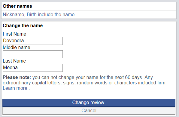 How to Remove Last Name from Facebook