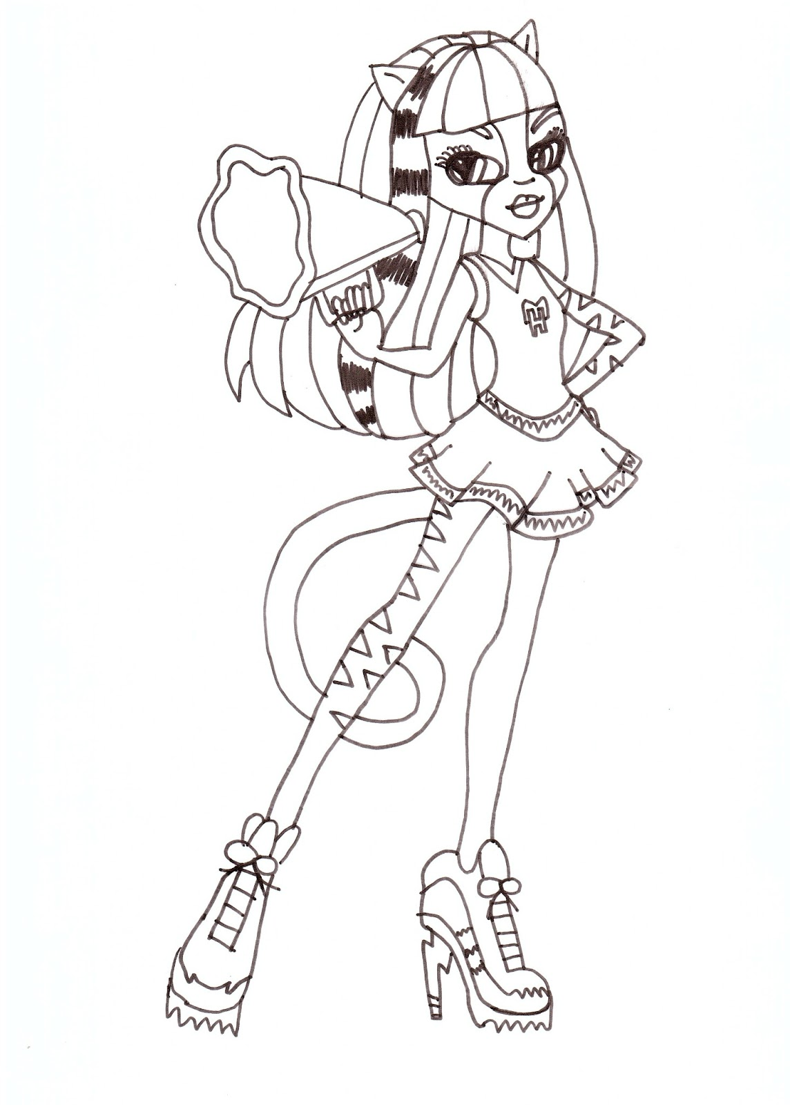 Free Printable Monster High Coloring Pages: Purrsephone