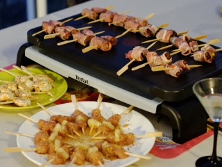 mini brochettes aperitives a la plancha