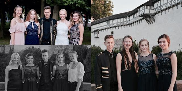 Endlich habe ich Abitur, die zwei Fotos zeigen mich mit meinen Freunden