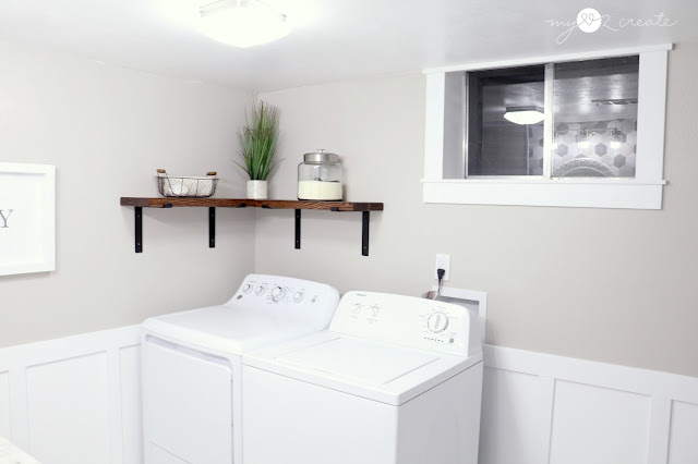 New washer and dryer area