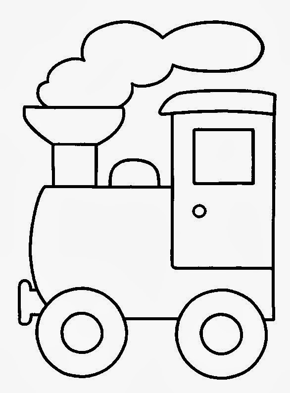coloring pages trains transportation - photo#10