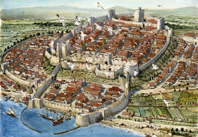 Reconstrucció de la ciutat de Càller el 1535