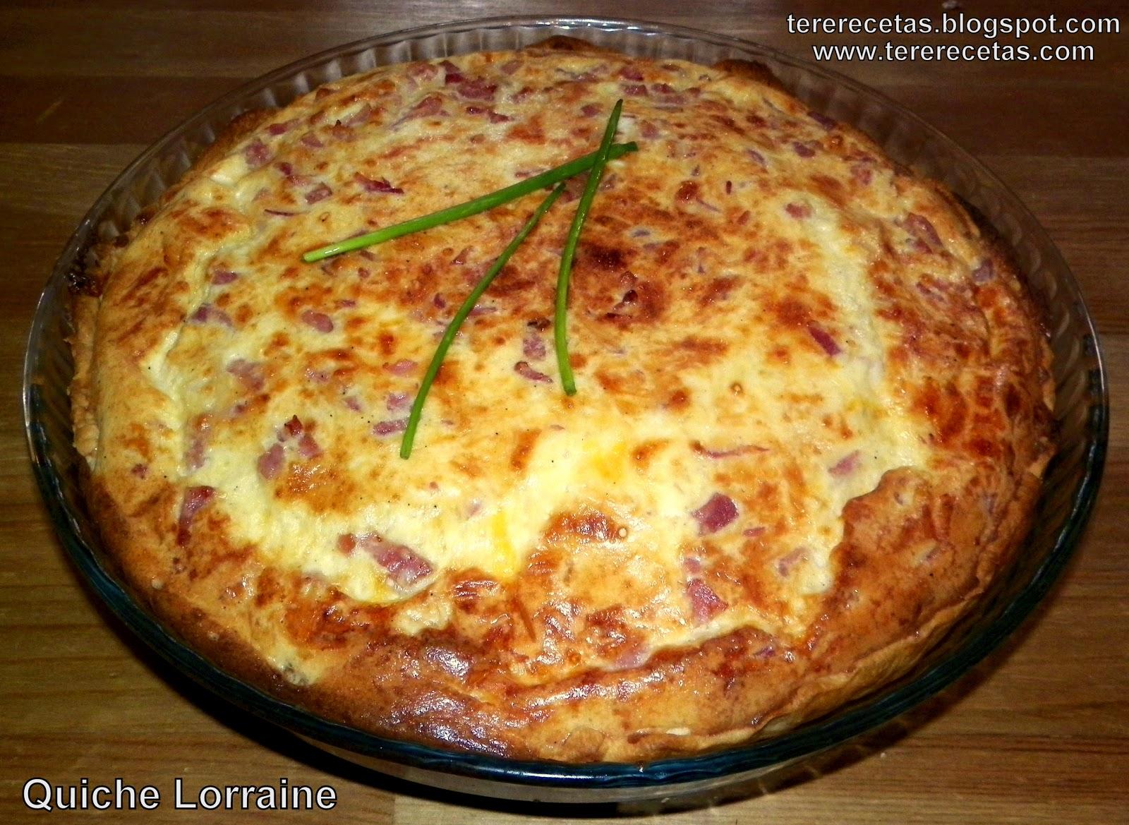 Quiche Lorraine  Blog Las recetas de Tere