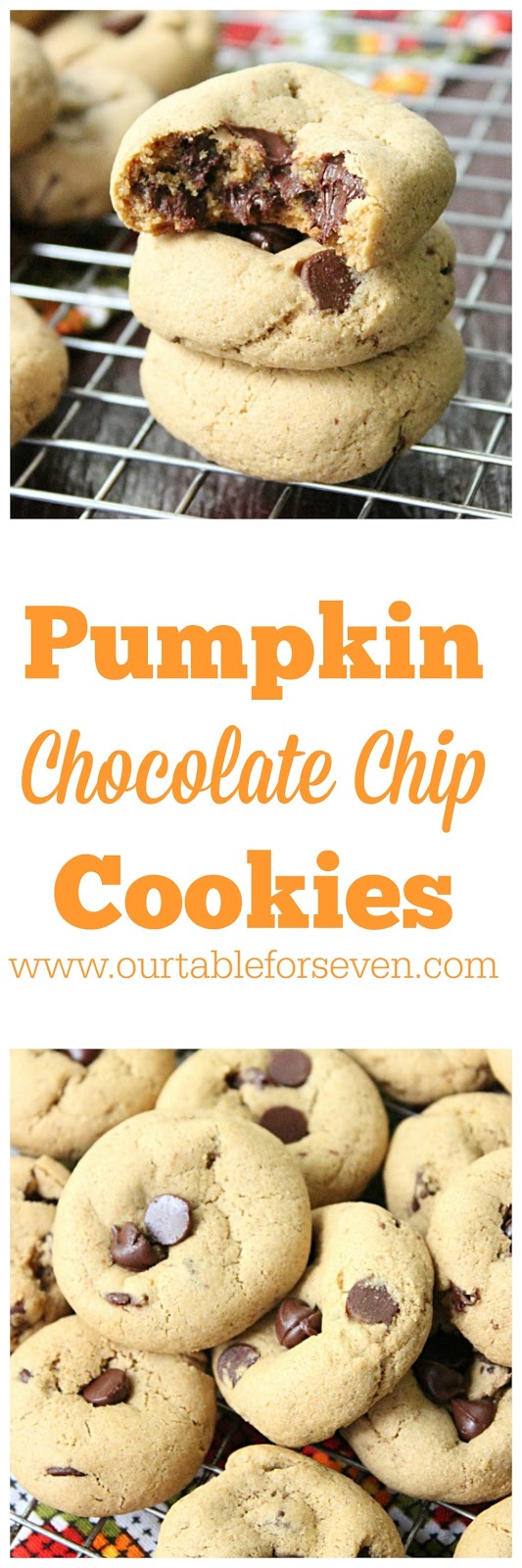 Pumpkin Chocolate Chip Cookies from Table for Seven