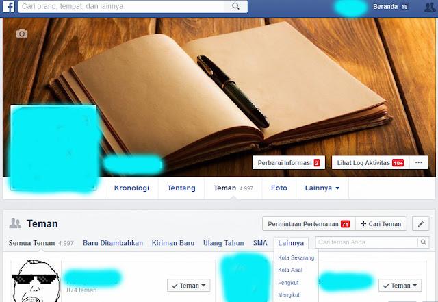 Cara Mengetahui Siapa Saja yang Kita Ikuti di Facebook