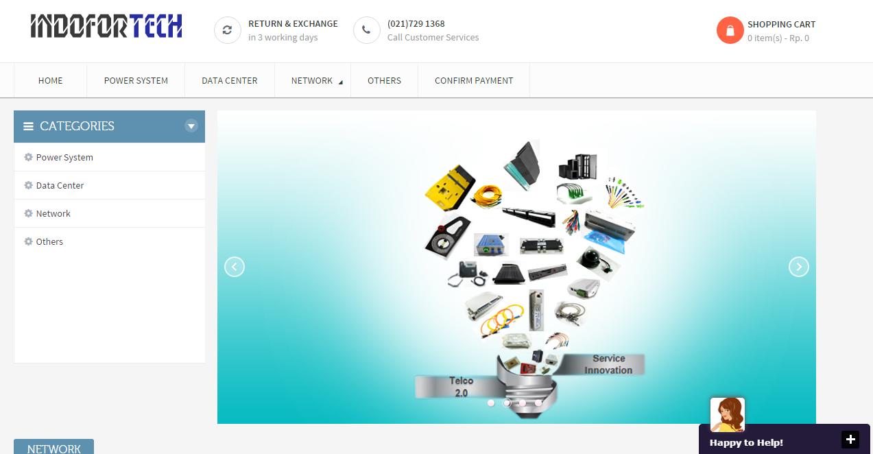 Indofortech.com E-commerce Telecommunications ,Power System ,Data Center & Network