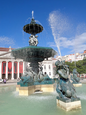 Beautiful Rossio Fountain by Igor L.