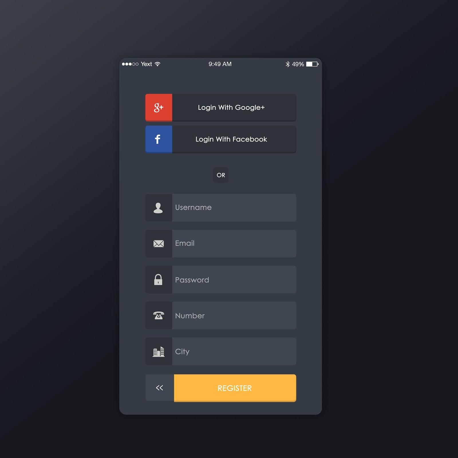 Signup Screen Design Inspiration