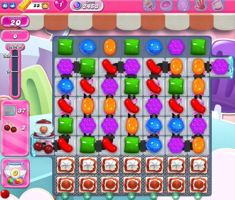 Candy Crush Saga level 2453
