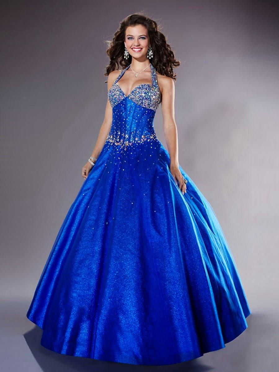 Dam Brinoword: Wedding dress cute royal blue