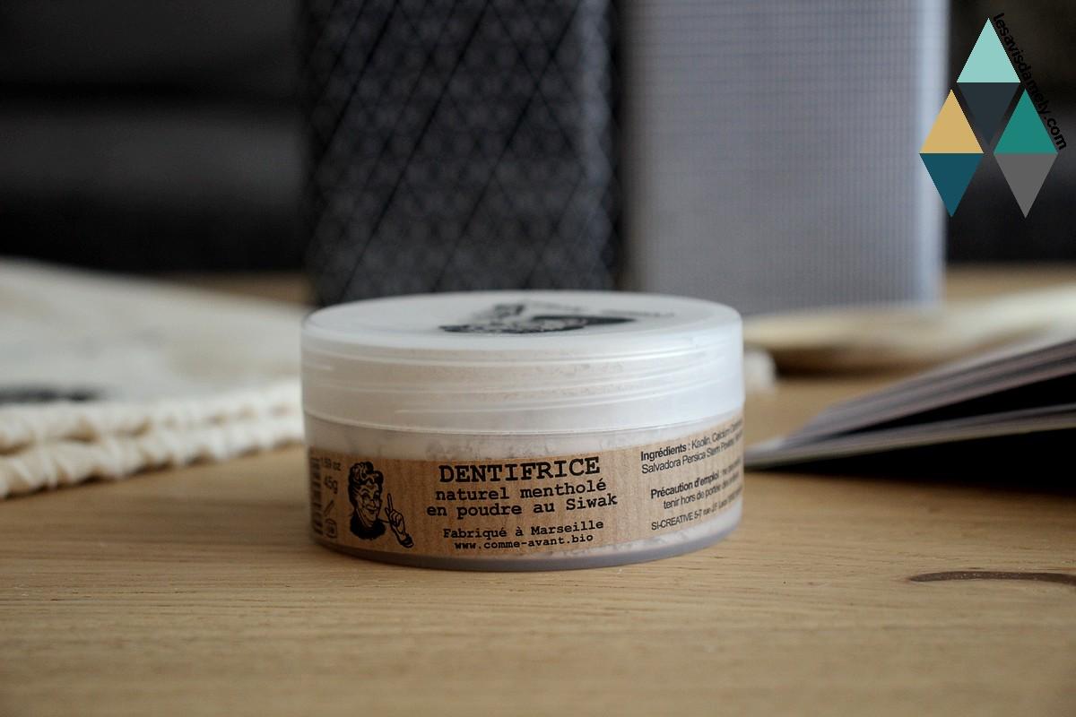 test et avis dentifrice en poudre naturel artisanal