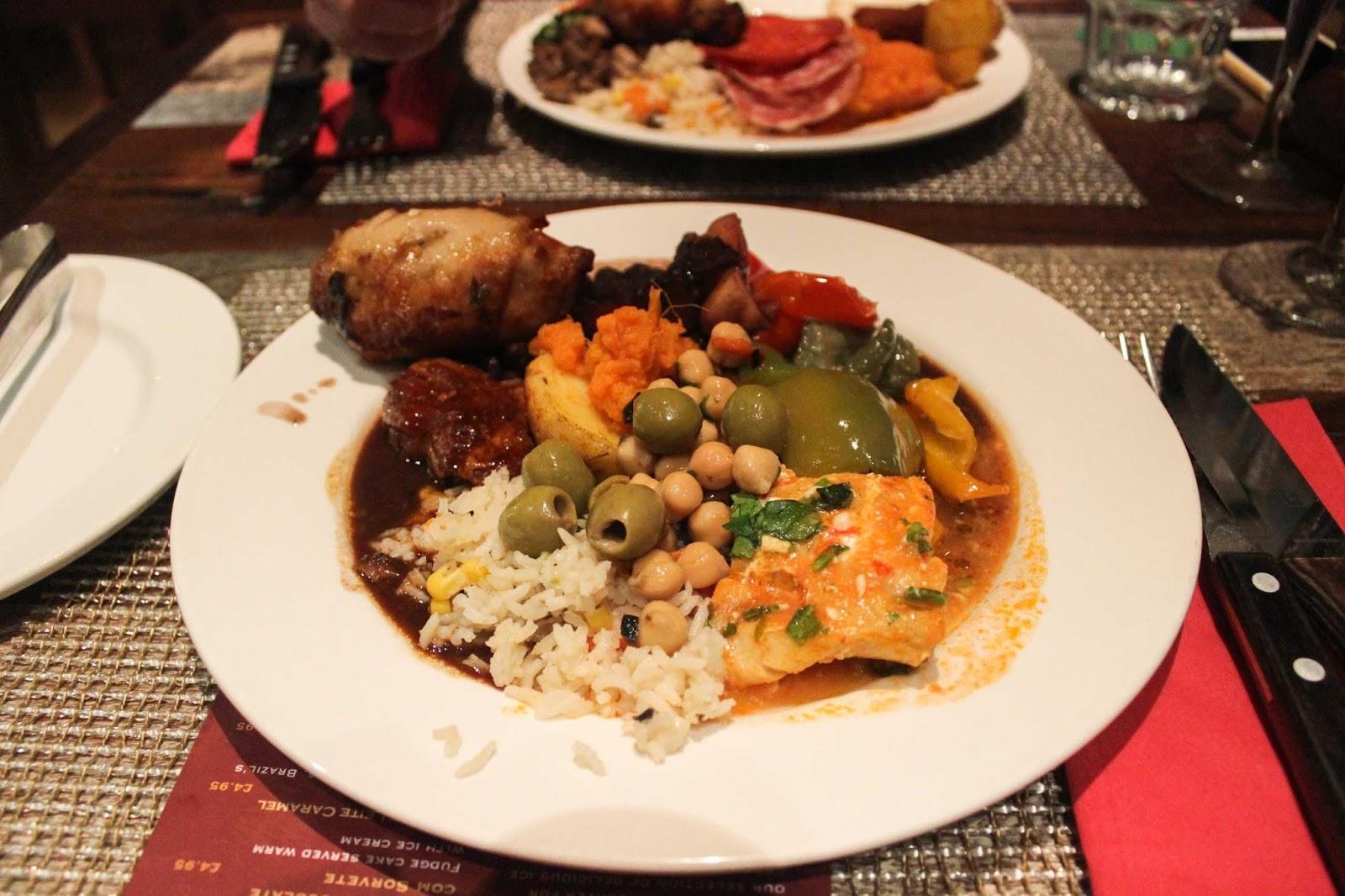 Food at Bem Brazil