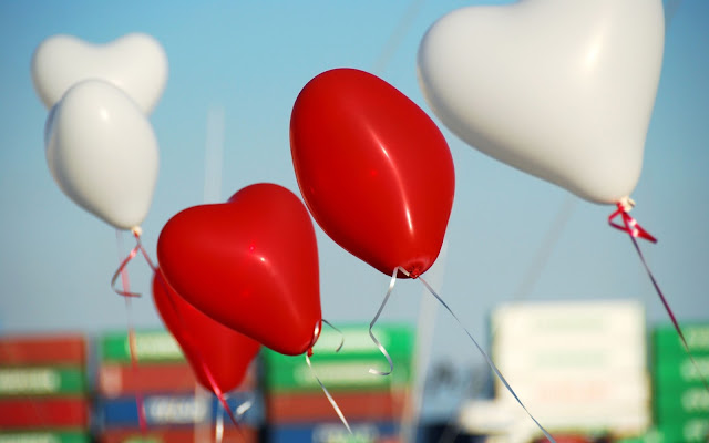 Valentine's Day Heart Shaped Balloons Images