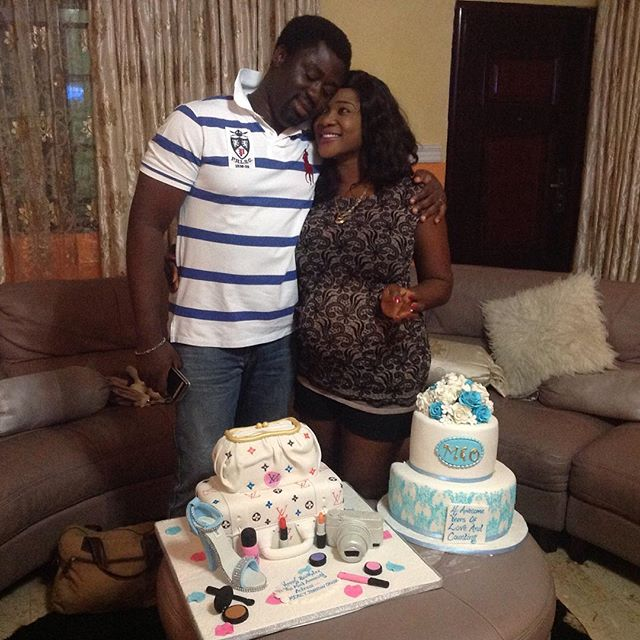 Heavily Pregnant Mercy Johnson Marks 31st Birthday At Mansion In