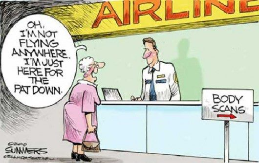 Funny Cartoon Memes Funny: Save The Old Lady!: Airline Security For Old Ladies (Cartoon