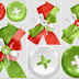 Bows and Buttons of the Sweet Christmas Clip Art.