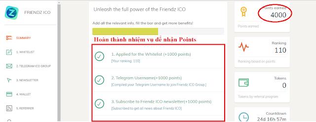 Dự án Friendz - Free 4000 point khi đăng ký