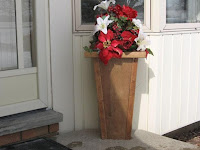 A Vase Deck Planter made from Pressure Treated Wood
