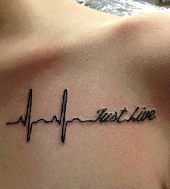 Heartbeat Tattoo Designs For Women