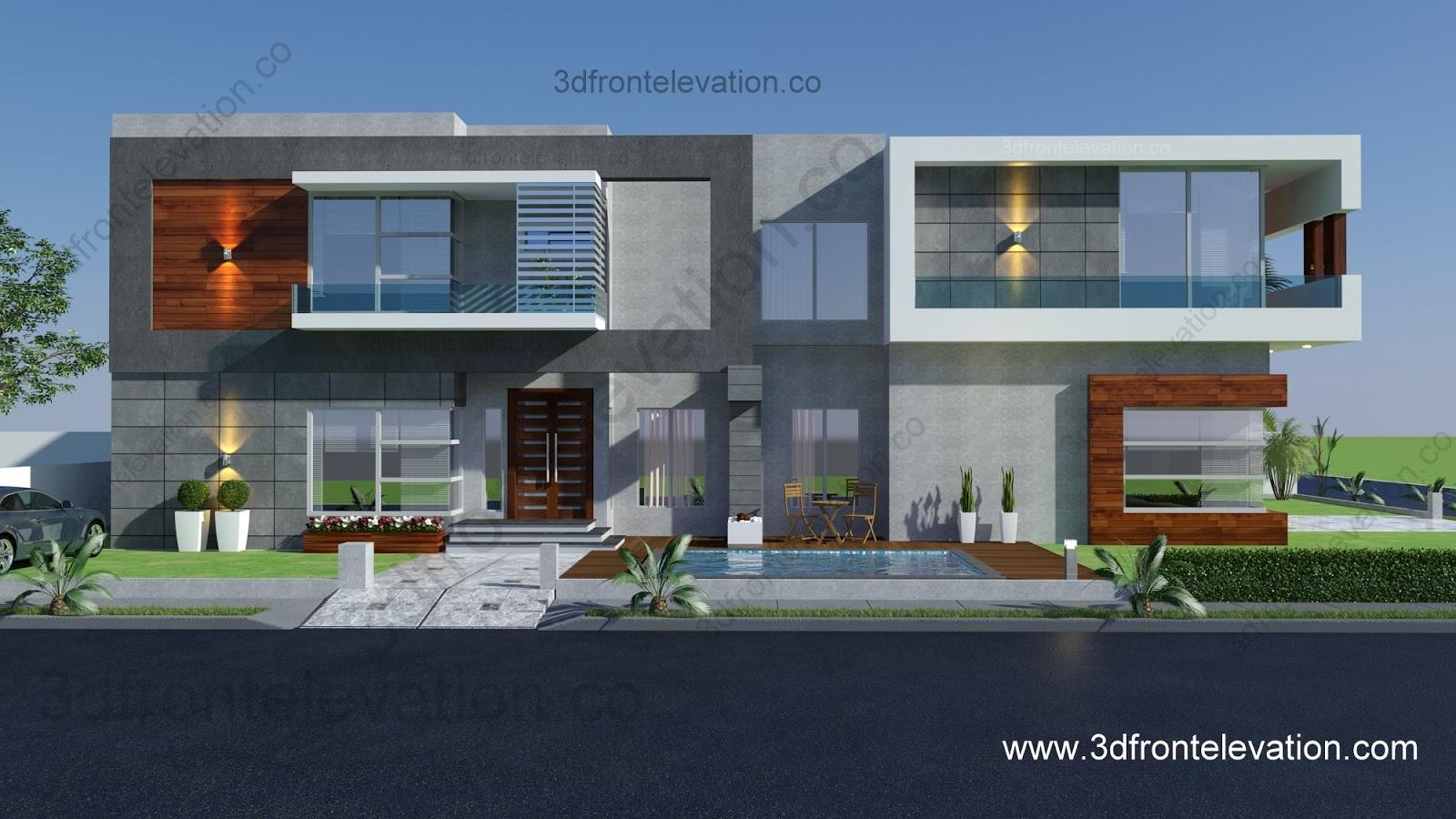 3d Front Elevation Jintu : D front elevation portfolio