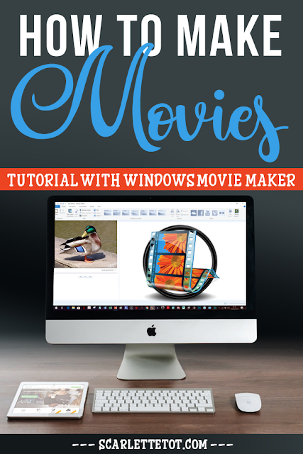 Image of movie maker with tutorial on how to make a video