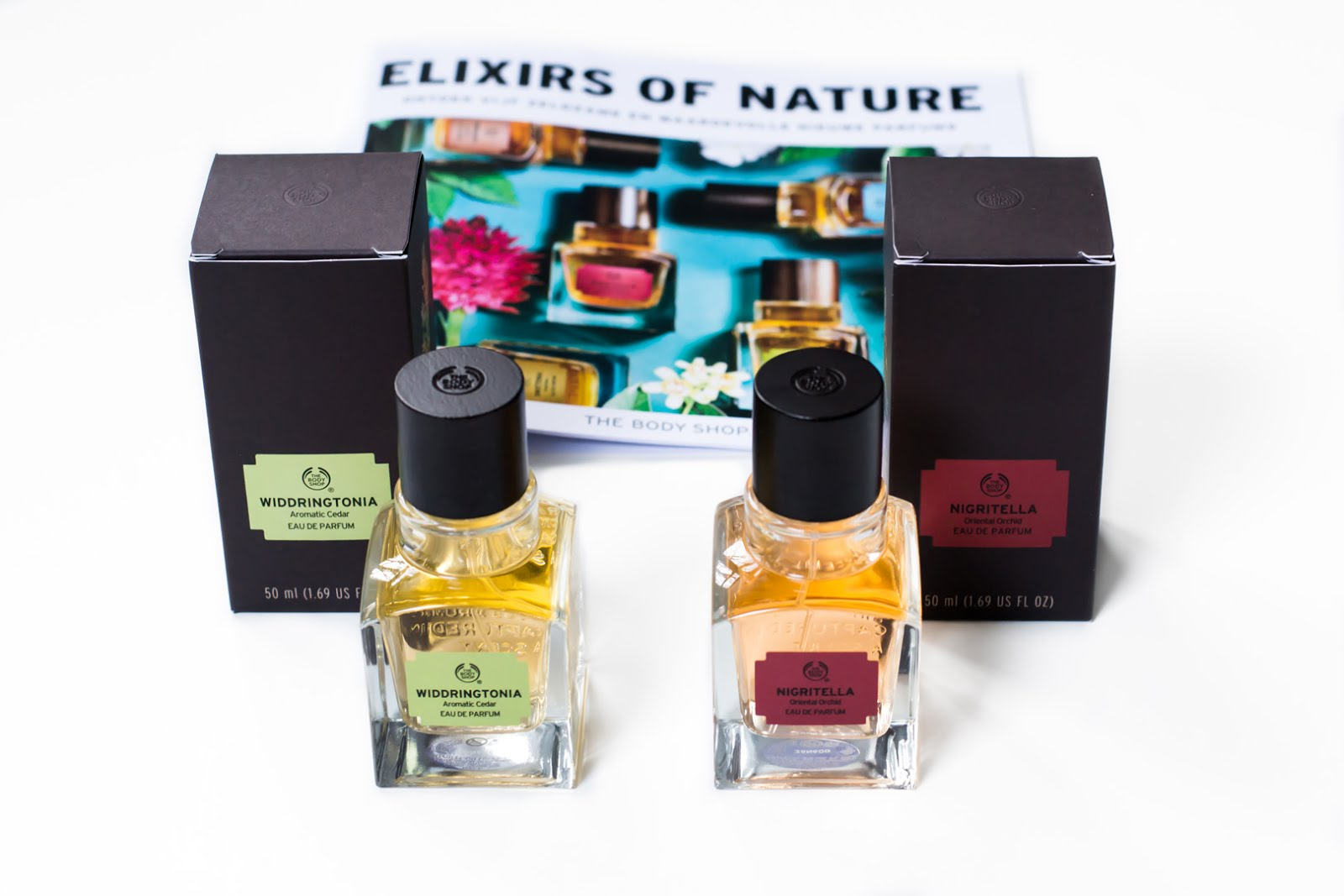 The body shop, elixirs of nature, perfume, fragrances, ss17, widdringtonia, nigritella