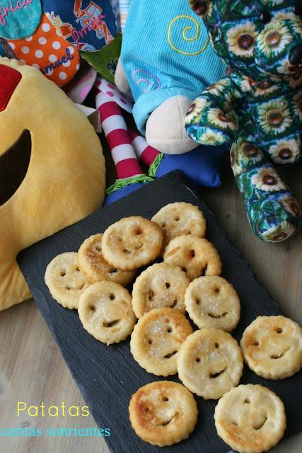 Patatas caritas sonrientes
