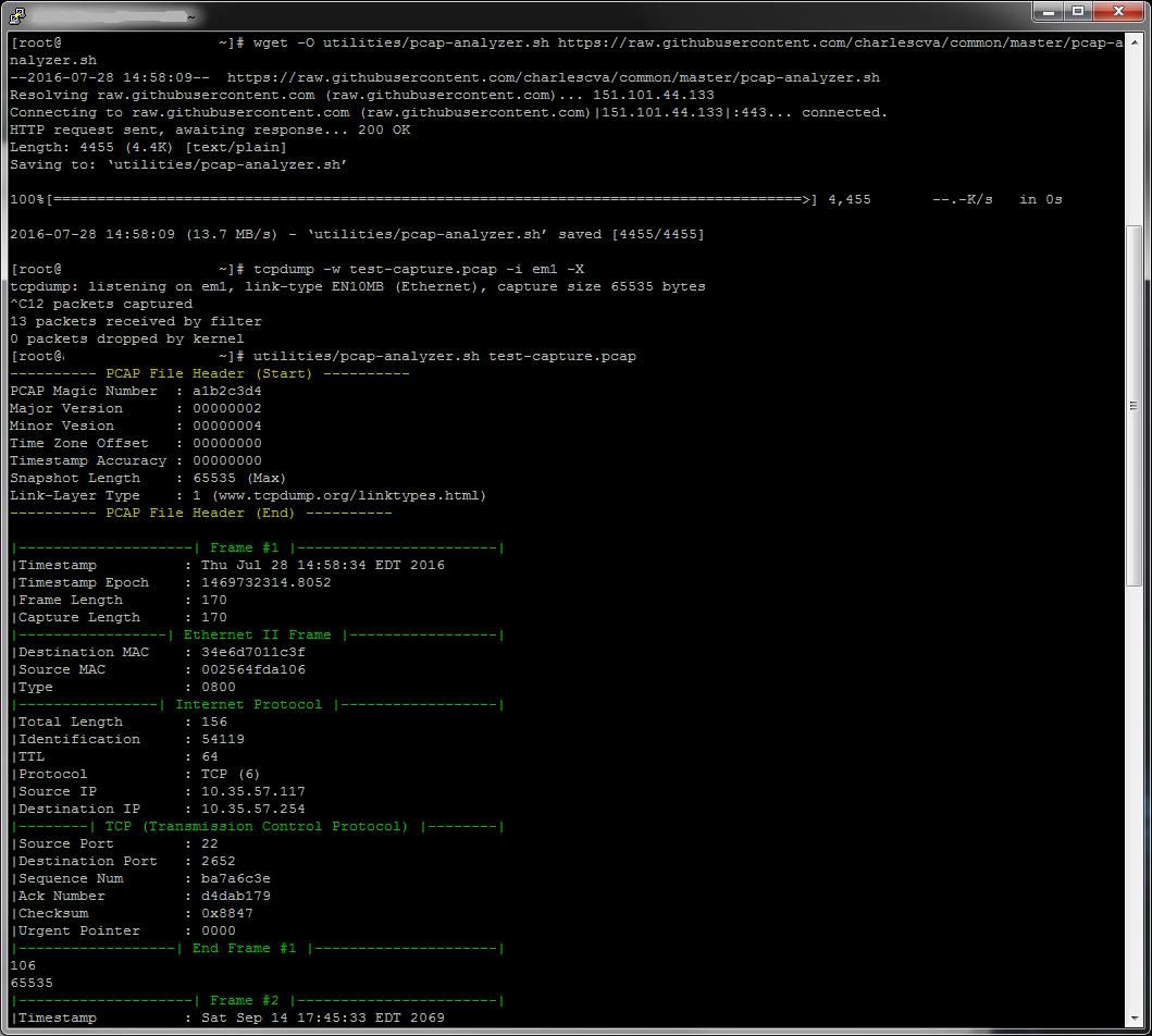 Champion of Cyrodiil: Parsing tcpdump/pcap files in bash
