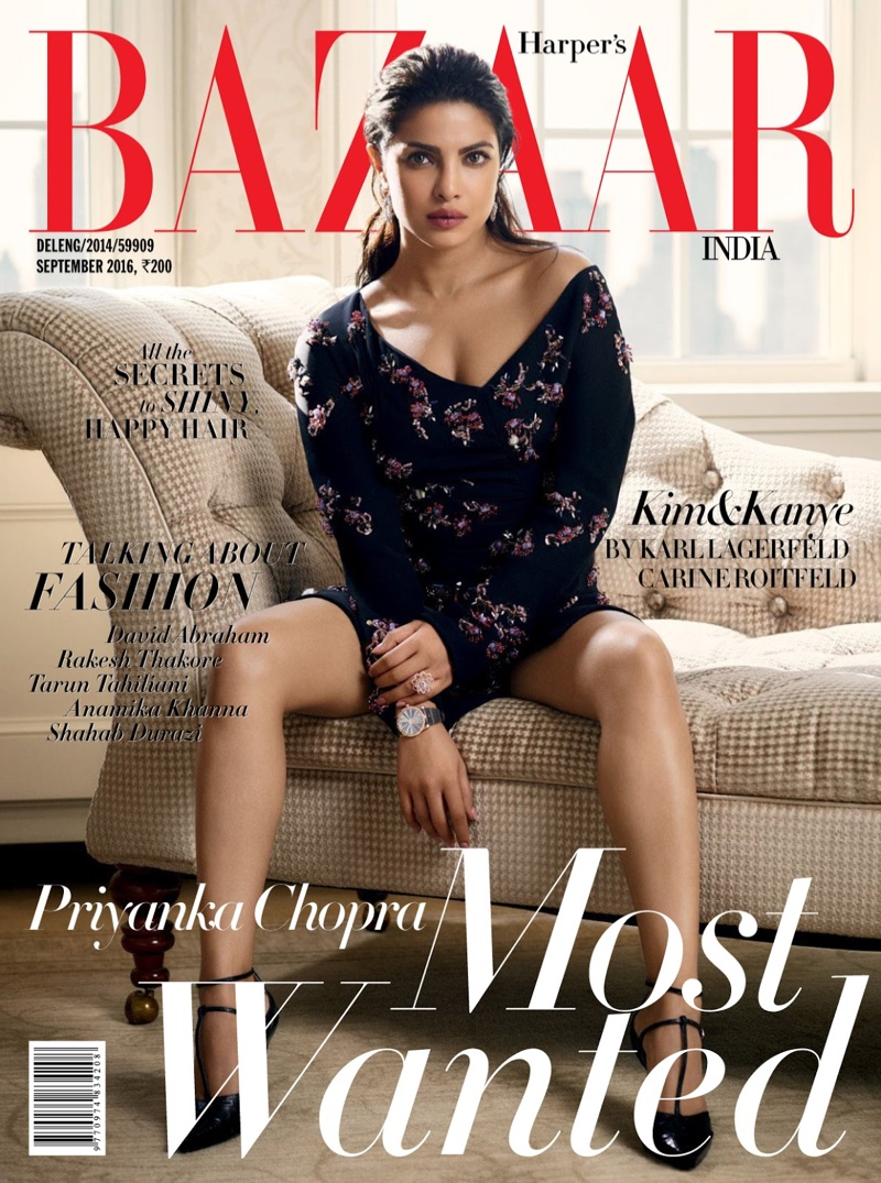 Priyanka Chopra wears Dior for Harper's Bazaar India