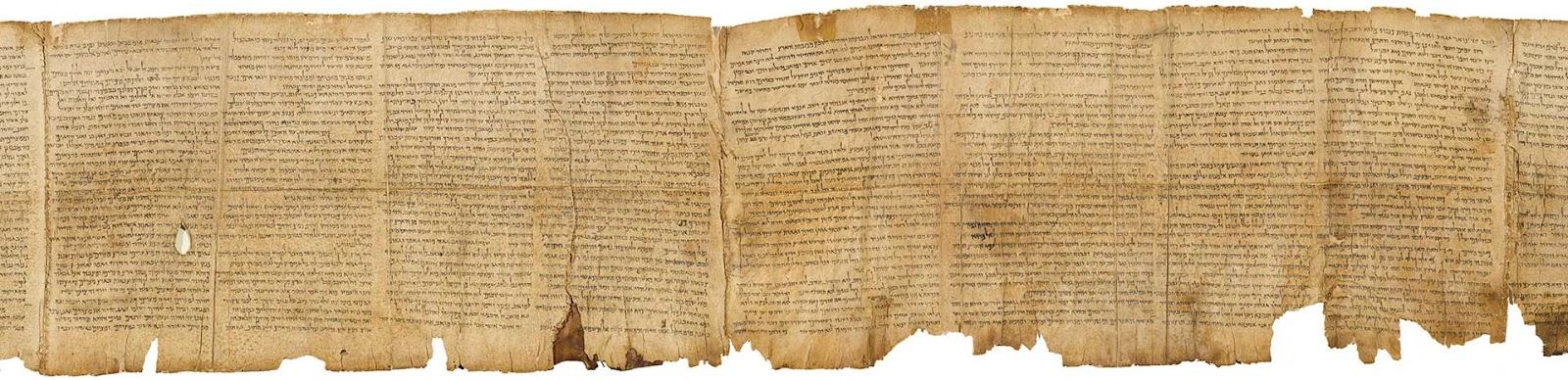 Manuscrito antigo das Sagradas Escrituras