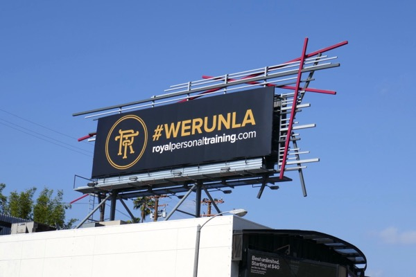 Royal Personal Training We Run LA billboard