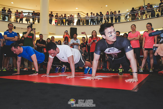 Push Up Challenge @ Under Armour Earn Your Armour Campaign