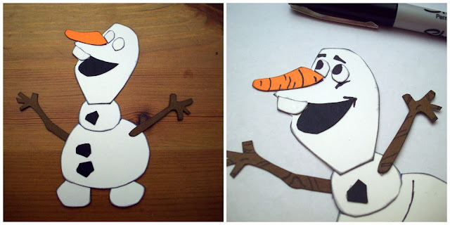 Olaf paper piecing #FrozenFun #shop