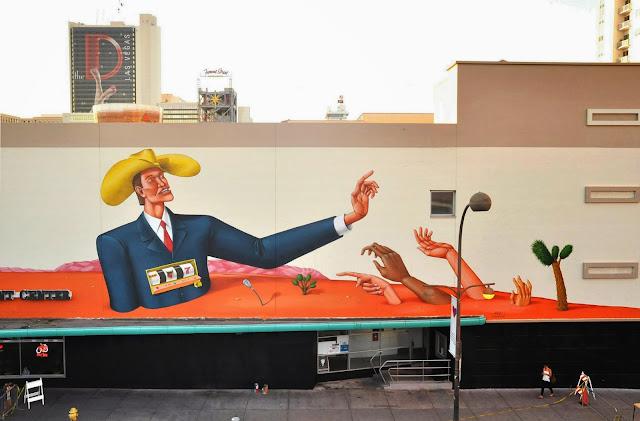 Street Art Mural By Interesni Kazki For The Rise Above Festival In Las Vegas, Nevada. 3