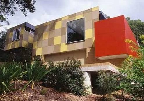 Perspectiva de una casa estilo Contemporáneo