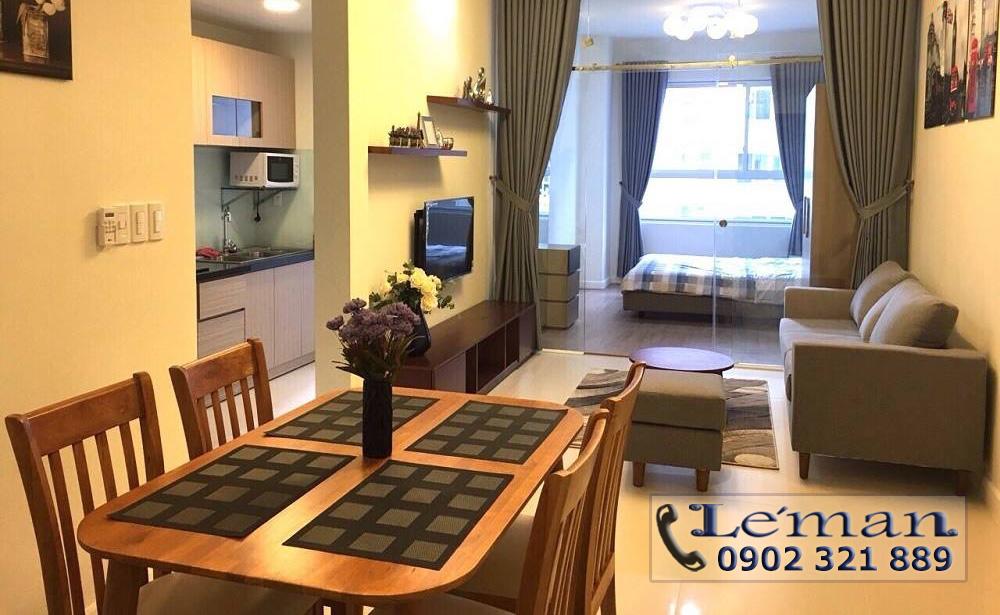 Cho thuê căn hộ Leman 2PN - bàn view phòng khách