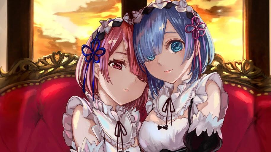 Re:Zero, Anime, Girls, Maid, Ram, Rem, 4K, #4.2780