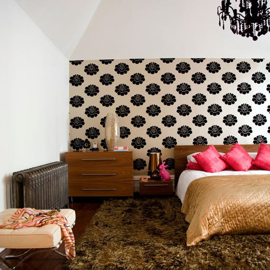 New Home Interior Design: Bedroom Wallpaper Ideas