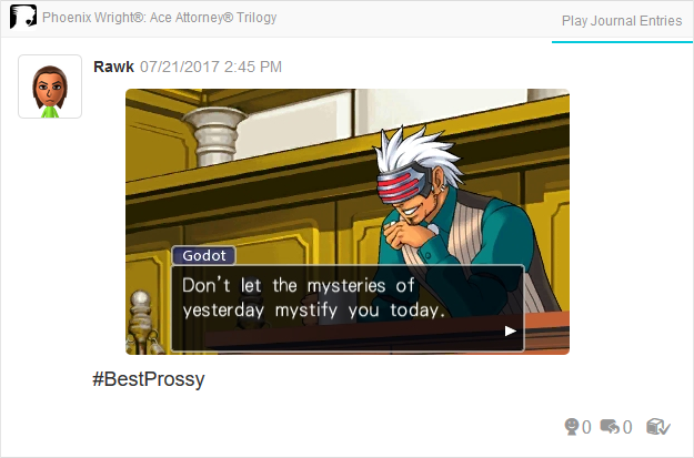 Phoenix Wright Ace Attorney Trials and Tribulations Godot mysteries of yesterday