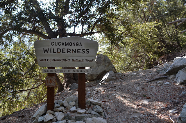 Cucamonga Wilderness sign