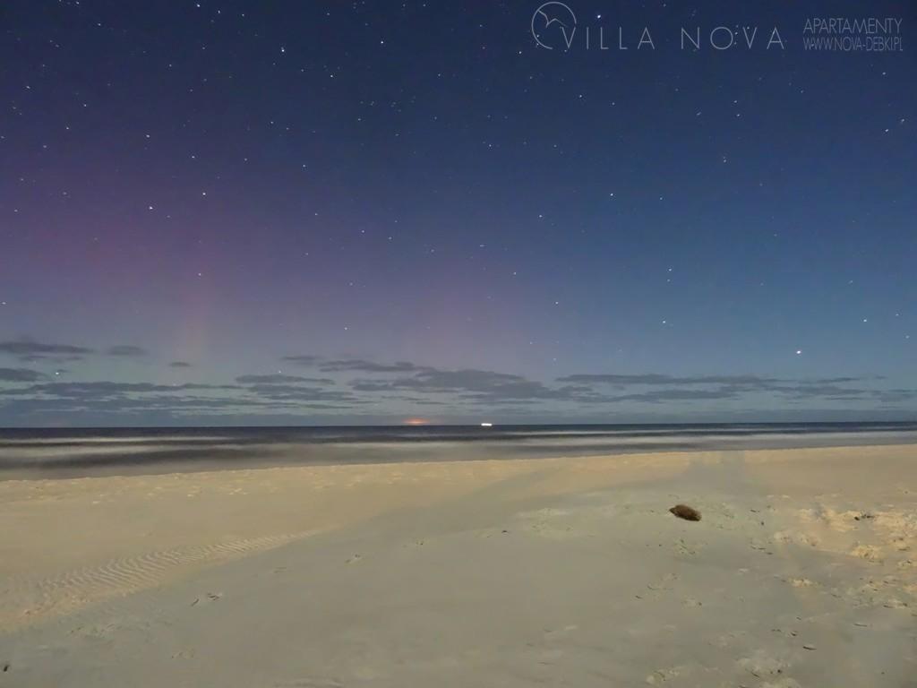 Zorza polarna sfotografowana 16.02.2016 r. z plaży Dębki (powiat Pucki), województwo pomorskie. (Credit: Piotr Okulski)