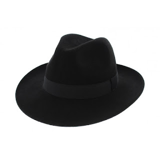 traclet chapeau noir feutre