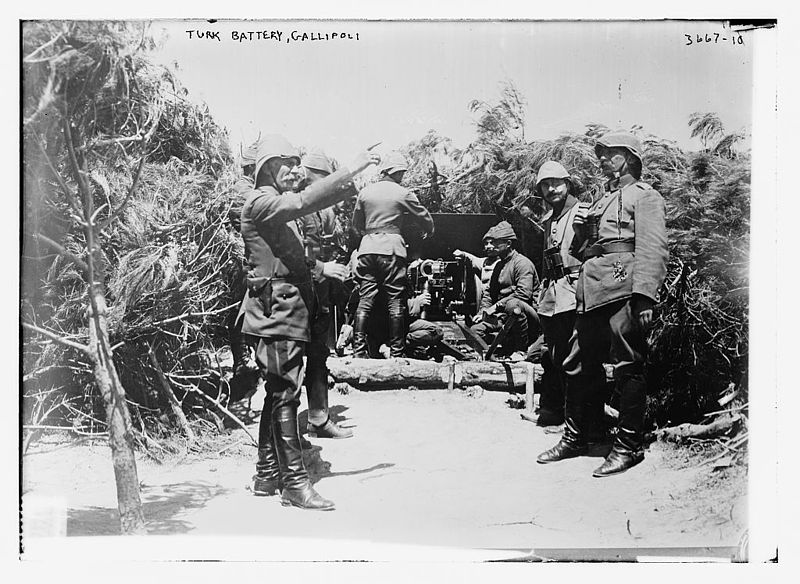 Ottoman Battery at Gallipoli, турки на войне