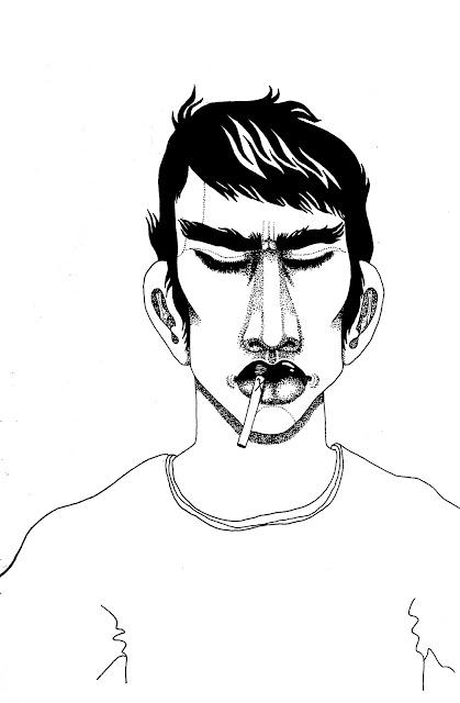 Black and White Line Portrait